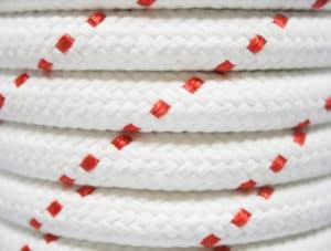 Gevlochten polyester touw detail Van der Stuyf