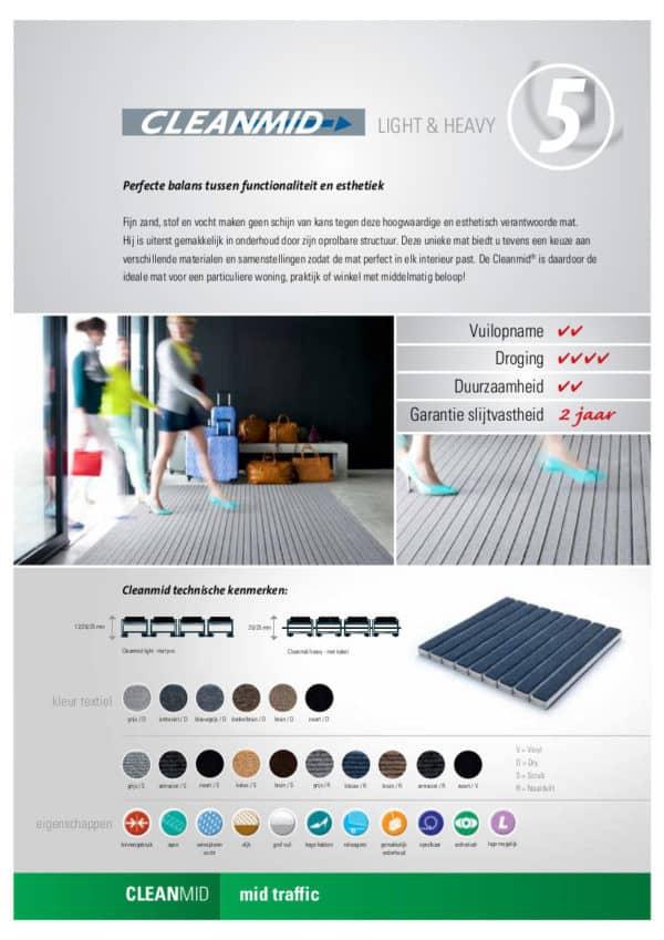 Cleanmid B-Dry/Scrub inkommat Verimpex, Van der Stuyf infofiche