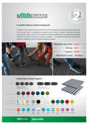Topguard Enkel gekleurde inkommat Verimpex, Van der Stuyf infofiche